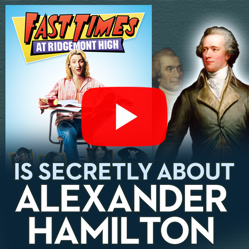 Now up on YouTube: a short video essay uncovering the funny and cracklingly astute U.S. history allegory in the classic '80s film. Totally awesome! All right, Hamilton!